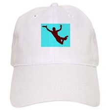 PAINTED BLUE RED DISC CATCH Baseball Cap