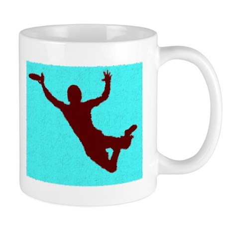 PAINTED BLUE RED DISC CATCH Mug