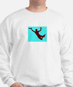 PAINTED BLUE RED DISC CATCH Sweatshirt