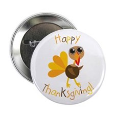 "Happy Thanksgiving 2.25"" Button (10 pack)"