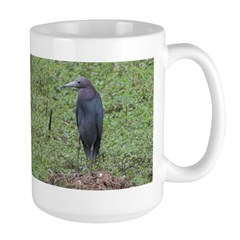 Little Blue Heron Large Mug