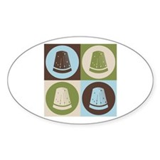 Sewing Pop Art Oval Decal
