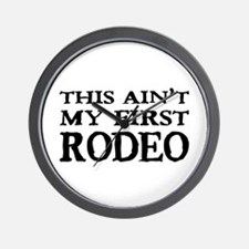 First Rodeo Wall Clock