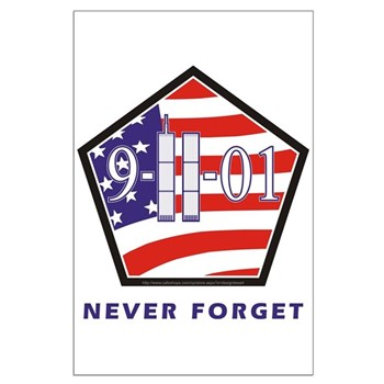 NEVER Forget - Large Poster