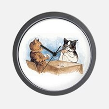 Poker playing Cats Wall Clock