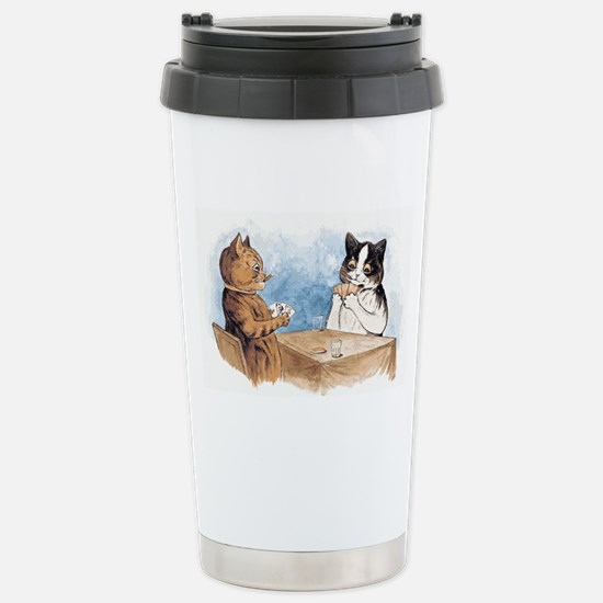 Poker playing Cats Stainless Steel Travel Mug