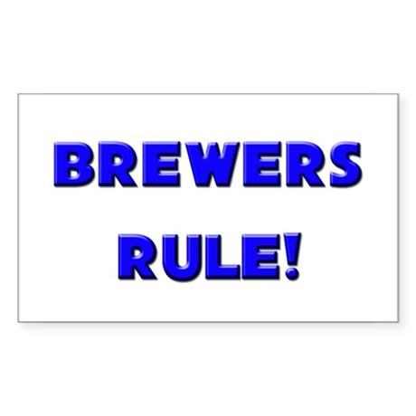 Brewers Rule! Rectangle Sticker