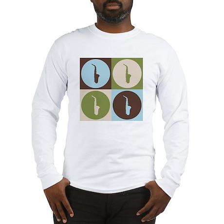 Saxophone Pop Art Long Sleeve T-Shirt