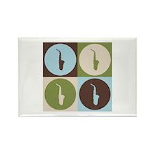 Saxophone Pop Art Rectangle Magnet