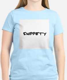 Snippety Women's Pink T-Shirt