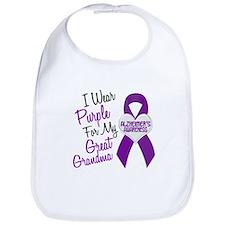 I Wear Purple For My Great Grandma 18 (AD) Bib