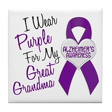 I Wear Purple For My Great Grandma 18 (AD) Tile Co