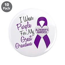 "I Wear Purple For My Great Grandma 18 (AD) 3.5"" Bu"