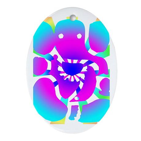 Ganesh Ji Oval Ornament
