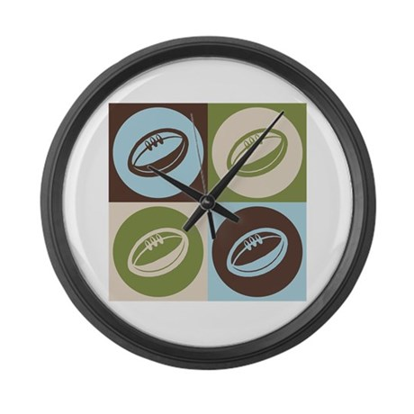Rugby Pop Art Large Wall Clock