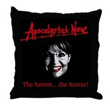 Apocalipstick Now Throw Pillow