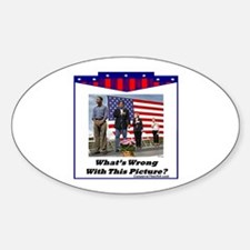 """""""Patriotic?"""" Oval Decal"""