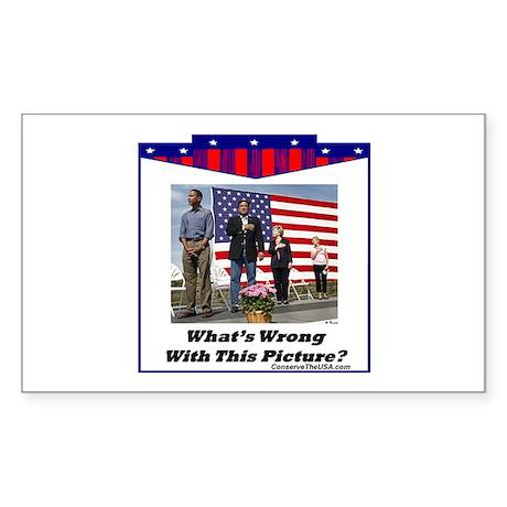 """Patriotic?"" Rectangle Sticker"