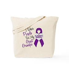 I Wear Purple For My Great Grandpa 18 (AD) Tote Ba
