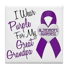 I Wear Purple For My Great Grandpa 18 (AD) Tile Co