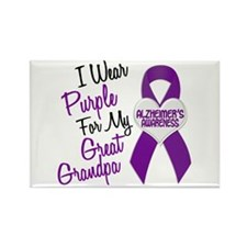 I Wear Purple For My Great Grandpa 18 (AD) Rectang