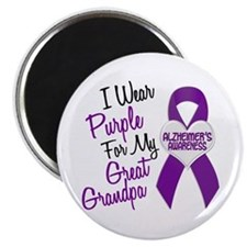 I Wear Purple For My Great Grandpa 18 (AD) Magnet