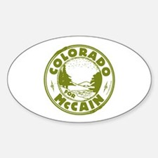 Colorado For McCain (Green) Oval Decal