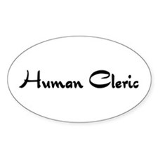 Human Cleric Oval Decal