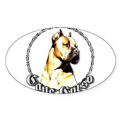 Cane Corso Oval Sticker (50 pk)