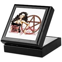 Seductive Witch Pentagram Keepsake Box