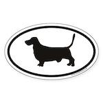 Basset Hound Euro Oval Sticker