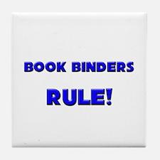 Book Binders Rule! Tile Coaster