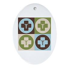 Rheumatology Pop Art Oval Ornament