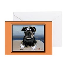 Dred Pirate Oliver Halloween Greeting Card