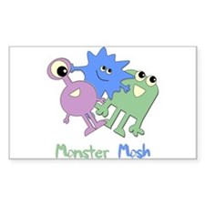 Monster Mosh Rectangle Stickers