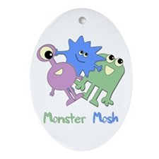 Monster Mosh Oval Ornament
