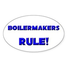 Boilermakers Rule! Oval Decal