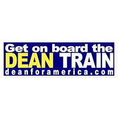 Get on board the Dean Train (sticker)