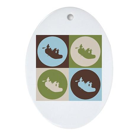 Rafting Pop Art Oval Ornament