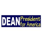 Dean: President for America (bumper sticker)