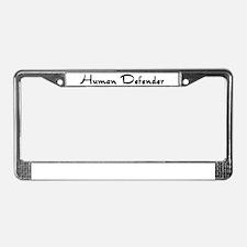 Human Defender License Plate Frame