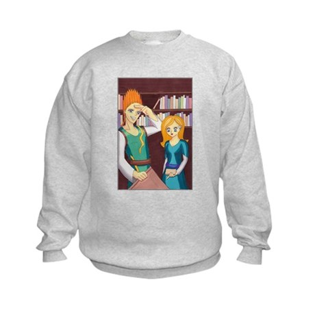 Caltha in Library Kids Sweatshirt