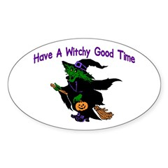 Witchy Time Oval Decal