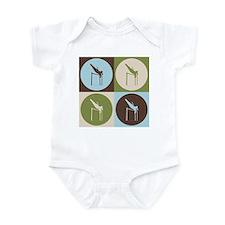 Pole Vaulting Pop Art Infant Bodysuit