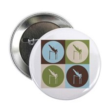 """Pole Vaulting Pop Art 2.25"""" Button (100 pack)"""
