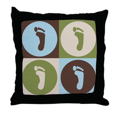Podiatry Pop Art Throw Pillow