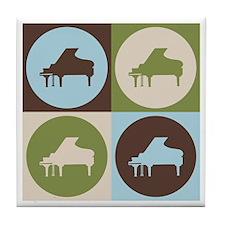 Piano Pop Art Tile Coaster