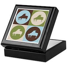 Piano Pop Art Keepsake Box