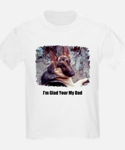 GLAD YOUR MY DAD Kids T-Shirt