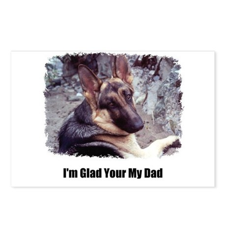 GLAD YOUR MY DAD Postcards (Package of 8)